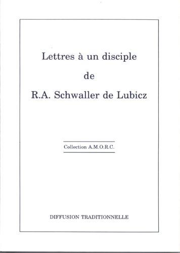 Lettres  un disciple