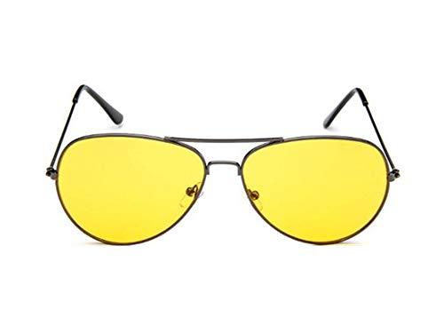 Cosanter Damen Sonnenbrille Herren Sonnenbrille Flieger Pilot Travel Sonnenbrille UV400 Schutz Unisex Sommer Sonnenbrillen, Gelb