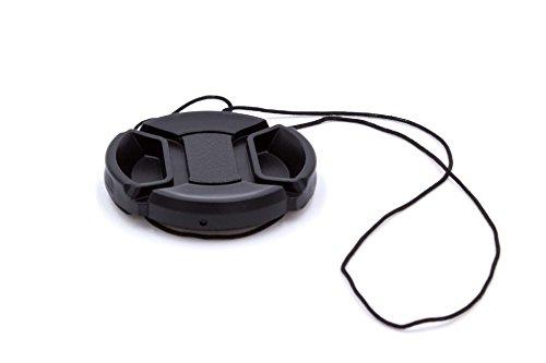 vhbw Tapa de objetivo 46mm negra para cámaras Panasonic Lumix G 25 mm F1.7, Panasonic Lumix G Macro 30 mm 2.8 Asph OIS.