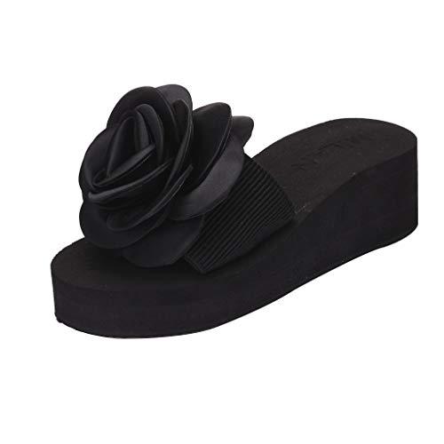 Eaylis Damen Sandalen Mit Dicken Sohlen Und Rosafarbenen Hausschuhen