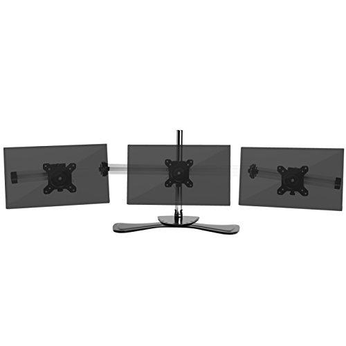 Duronic DM753 Monitorhalterung / Tischhalterung / Standfuß / Monitorständer für einen LCD / LED Computer Bildschirm / Fernsehgerät mit Neig, Schwenk und Rotierfunktion (3 Monitorständer 24 Zoll)
