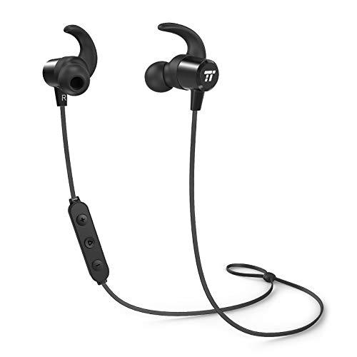 Auriculares Bluetooth Inalambricos Deportivos TaoTronics Auricular Bluetooth Magnético con Mic Estéreo 8 Horas para iPad iOS Android Tablet PC Samsung Galaxy Sony Huawei