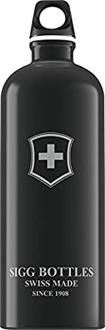 International Swiss Shield Aluminium Water Bottle 1 Litre Black