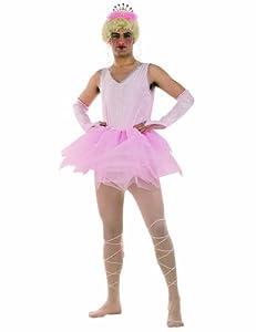 Limit Sport - Disfraz de bailarina para hombre, color rosa, talla L (MA487)