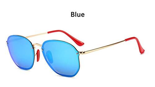 Sonnenbrille Retro Kleine Sechseckige Polarisierte Sonnenbrillen Männer Im Freien Treibenden Gläser Spiegel Sonnenbrille Frauen Einzigartige Brillen Vu 400 Blau Spiegel
