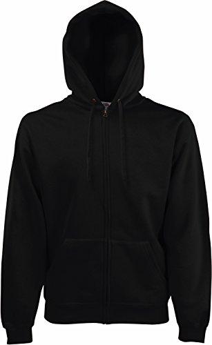 Fruit of the Loom - Hooded Sweat Jacket - Modell 2013 / Black, M M,Black