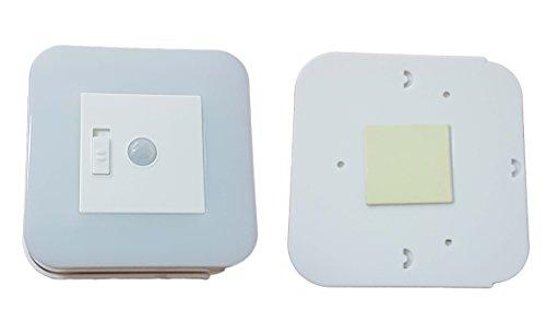 takestop® Rauchmelder Bewegung-Automatisierung Infrarot Sensor 12LED Tag Nacht für Außen mit 4Batterien nicht enthalten