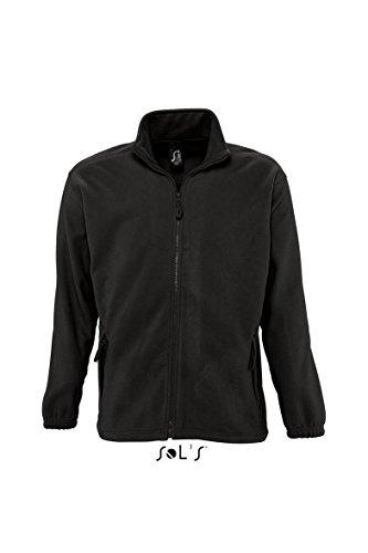 Schwarze Fleece-sweatshirt (SOL´S - Fleecejacket North 4XL,Black)