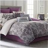 Blissliving Home Lacy Grey Duvet, Queen