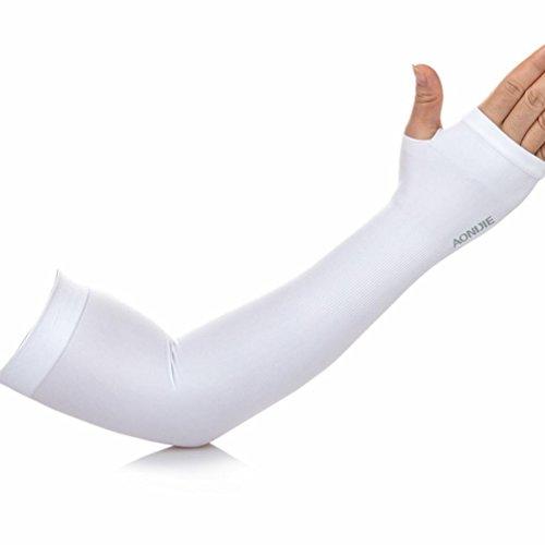 TXIU EIS-Hülse EIS-Stulpe-Hülse Sonnenschutz-atmungsaktiver UVschutz Hand-mit Kapuzen-Mann-Mann-Fischen-Anti-Moskito im Freien, White
