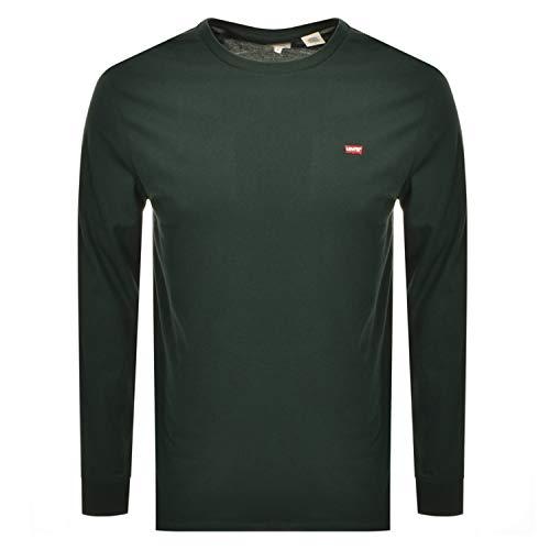 Levi's Herren LS Original Hm Tee T-Shirt, Grün (Pine Grove 0003), X-Large (Herstellergröße: XL)