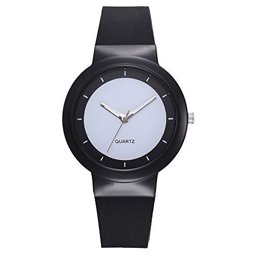 Damen Uhr, Mode Einfach Uhren Silikon Armband Analog Quarz Armbanduhr, Gelee Farbe(Schwarz)
