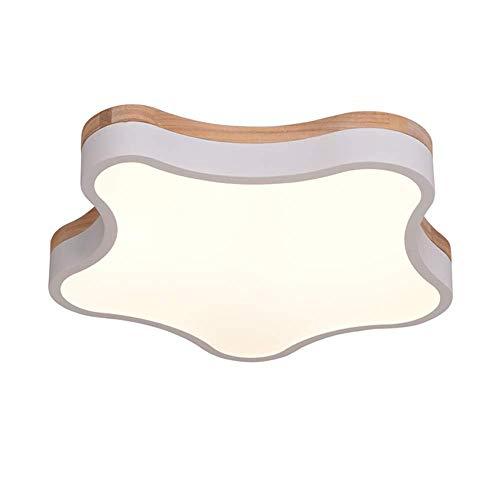 ♪ Schmiedeeisen-Deckenlampen-Linsen-LED-Stern-Eiche-Deckenleuchten kreative lichtdurchlässige Acryl-Lampenschirm-Monochrom-warmes Licht Macaron-Innenbeleuchtung Wohnzimmer Schlafzimmer Studie Kinderzi