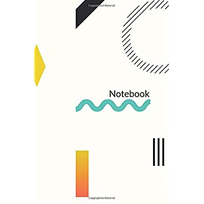 Notebook: Pretty Minimal Design Journal | 120-Page College-Ruled Minimal Pattern Notebook | 6 X 9 Perfect Bound Paperback