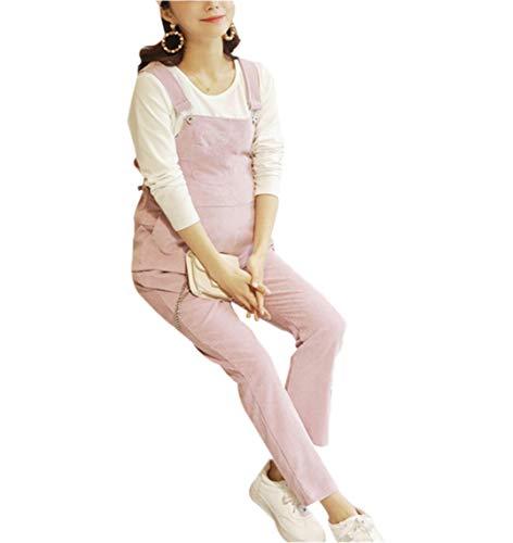 Pantaloni Gravidanza Tuta Salopette Premaman Bretelle Donne Abbigliamento maternità Cintura Regolabile Retro Sciolto Autunno Inverno