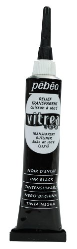 PEBEO Vitrea 160Outliner Glasmalerei, 20Tube, Tinte Schwarz Tinte schwarz (Pebeo Vitrea 160 Farbe)