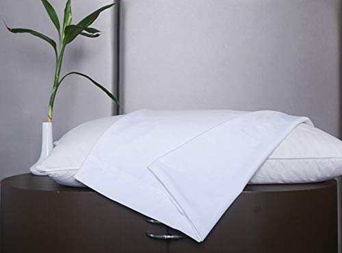 """Trance Home Linen Bamboo Terry Waterproof Hypoallergenic & Anitbacterial Pillow Protector-18 x 28"""" (White)"""