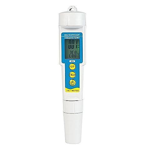 Leaning Tech 3en 1portable Digital poches PH/TDS/Temp Testeur Compteur Testeur pour piscine aquarium Laboratoire