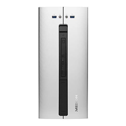 MEDION P66058 Desktop PC (Intel Core i5-9400, 8GB DDR4 RAM, 1TB HDD, 256GB PCIe SSD, Nvidia GeForce GTX 1050, DVD, WLAN, Win 10 Home)