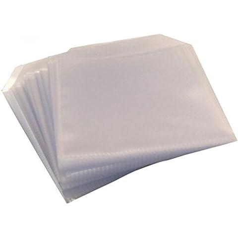 Four Square Media 50CD DVD Disco Cubierta transparente plástico casos 150micrones funda tipo cartera–50unidades