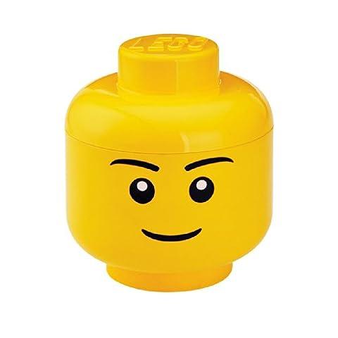 LEGO 40311724 Tête de Rangement Empilable, Plastique, Garçon, 16 x 16 x 19,5 cm