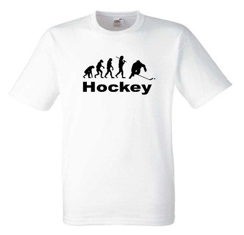 Hockey Evolution T554 Unisex T-Shirt Textilfarbe: weiß