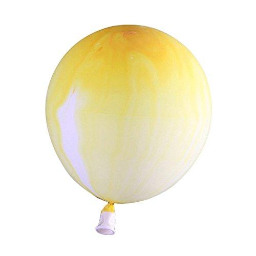 TOOGOO 10 stuecke 12 Zoll Neue Weihnachten Marmor Achat Latex Ballon Marblezided Hochzeit Ballon Geburtstag Party Decor Latex Luftballons Fuer Baby Dusche Kinder Party Gelb