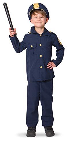 Kostüm Kommissar - Folat 21693 Kinderkostüm Polizei Polizist Officer 116-134, blau, M