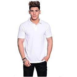 IL232-XXXL-Illusion White Polo Neck T-Shirt