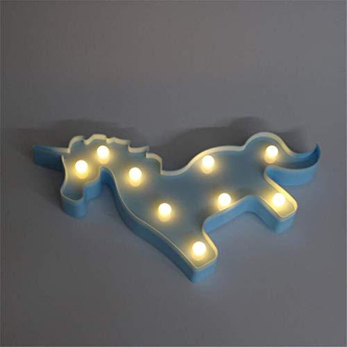 QiXian Veilleuse LED Lumières Décoratives Licorne Tête Tir Props Lampe de Table Mignon Enfants Salle de Style Styling Night Light Rêve Tenture Murale