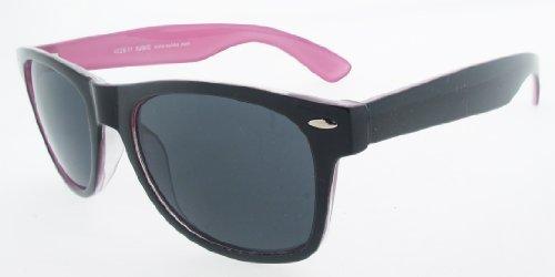 Sonnenbrille Nerdbrille retro Art. 4026-11 Rahmen: rosa schwarz, Gläser: schwarz