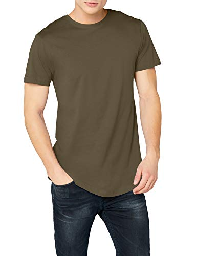 Urban Classics Herren T-Shirt Shaped Long Tee TB638, Grün (olive), L -