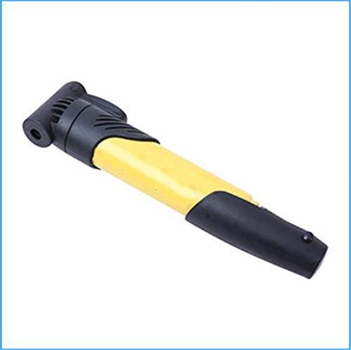 ZXCSA Mountainbike Mini Luftpumpe US Gesetz Gas Mund Fahrrad Luftpumpe Hand Push Luftpumpe Rennrad Reiten Zubehör (Gelb)