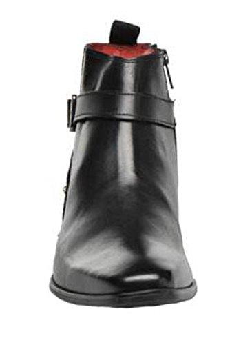 Bottines montantes classic en cuir model Boli par HGilliane Design Eu 33 au 44 Noir