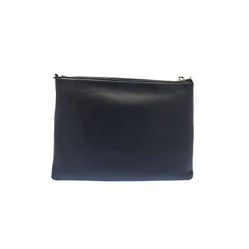 Pochette con tracolla Coccinelle in vera pelle saffiano Blu