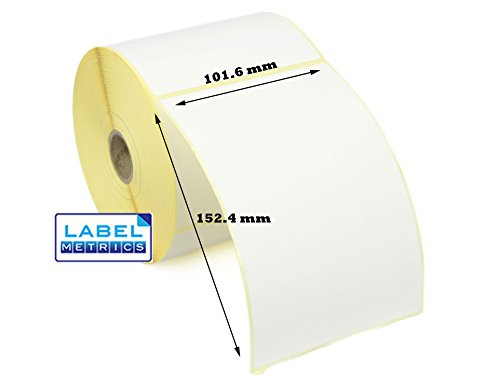 Label Metrics 101 6 x 152 4mm Direct Thermal Perforated Labels - Zebra  GK420D, GX420D, GK420T - 10 Rolls 5,000 Labels