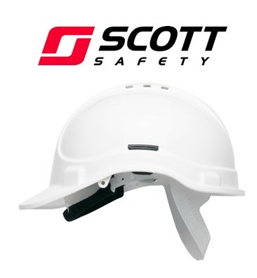 Scott Safety HC300/VW/SBT Helmet with Terry SB, Vented, White