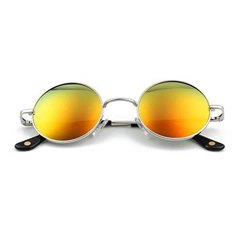ZX Retro Kreisförmig Sonnenbrille Reflektor Polarisiertes Licht Männer Und Frauen Hipster Kann Mit Kurzsichtigkeit Ausgestattet Werden (Farbe : 4)