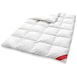 Badenia 03621200140 Trendline Comfort Daunendecke, Baumwolle, Weiß, 135 x 200 cm