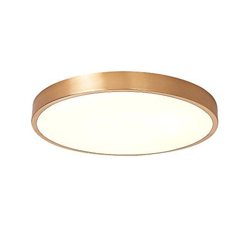 Lampada da soffitto led moderno semplice lampada da soffitto classico rame lampada dimmerabile camera da letto illuminazione soffitto illuminazione lampada per soggiorno camera da letto sala da pranzo camera 27w l30* h4cm
