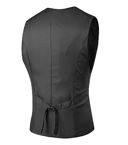DD UP Homme Gilets Costume Vestes Slim Fit Sans Manches Business Mariage Taille S-XXL Dark Gray