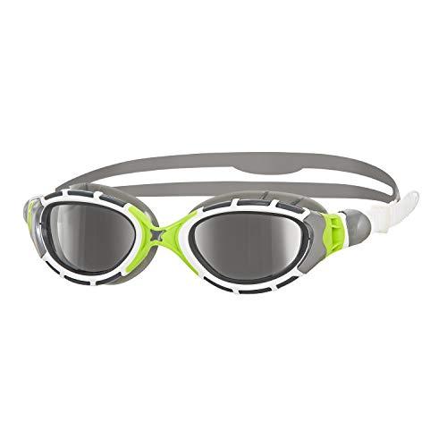 Zoggs Predator Flex Titanium Schwimmbrille, Grey/Green/Mirror, One Size (Predator Mirror)