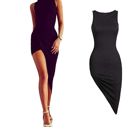 TWIFER Damen Ärmelloses Bandage Bodycon Cocktail Party Langes Maxikleid