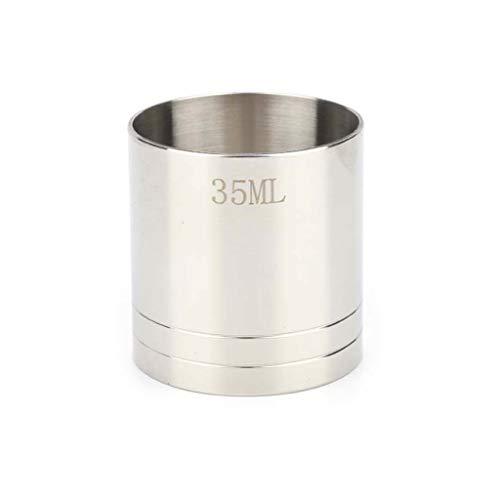 Shenxay 25/35/50ml Edelstahl Messen Bar Cocktail Drink Cup Messwerkzeug Küche Gadgets Zubehör - Zwei 12-cup-karaffen