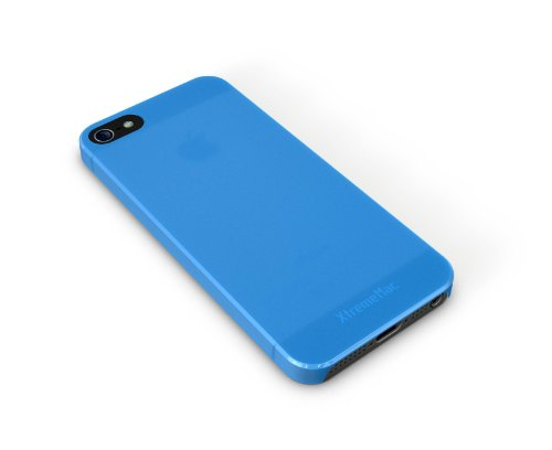 XtremeMac Microshield Thin Schutzhülle für Apple iPhone 5 (nur 0,4mm dünn) Rot Blau