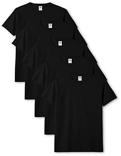 Fruit of the Loom Original T. T Shirt Uomo Nero Large