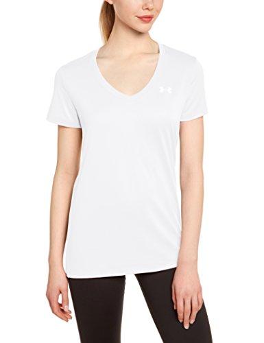 Under Armour Damen Fitness T-shirt und Tank, Wht, SM, 1255839 (Weiß Top Tank Angels Damen)