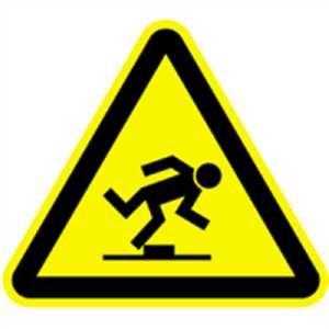 Aufkleber Warnzeichen Warnung vor Stolpergefahr Folie 10cm sl