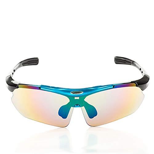 AmDxD PC Radbrille Schutzbrillen Winddicht Staubschutz RadSportbrille Motorradbrillen Outdoor Schutz Brille für Motorrad Fahrrad Helmkompatible, Blau