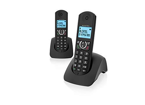 Oferta de Alcatel F380s Duo - Teléfono Fijo, Color Negro